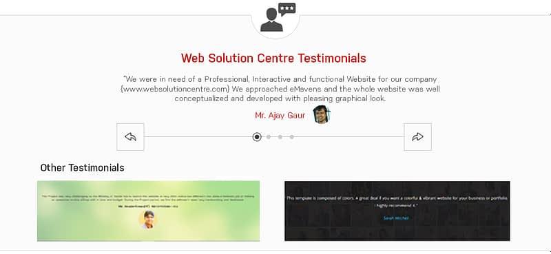 website designing company testimonials